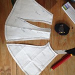 muslin template for the collar piece