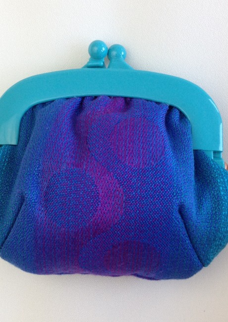 Blue and Purple purse front
