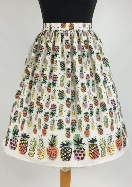 Pineapple skirt in Pink with petticoat