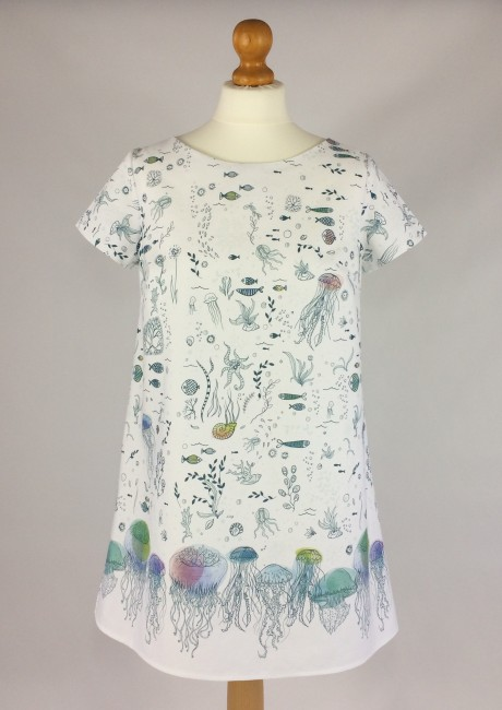 Jellyfish Print Tunic Dress