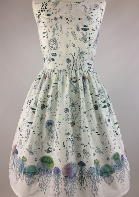 The Jellyfish Dress front with petticoat
